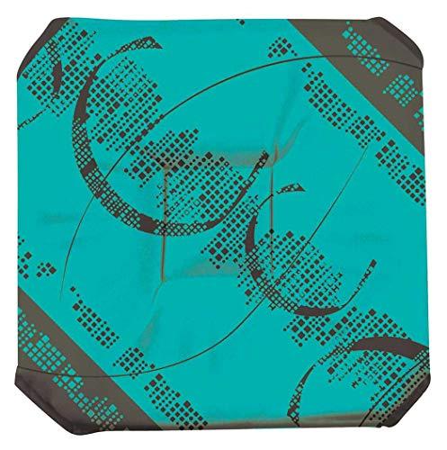 Galette de chaise anti-taches à rabats Lotus Lignes bleu