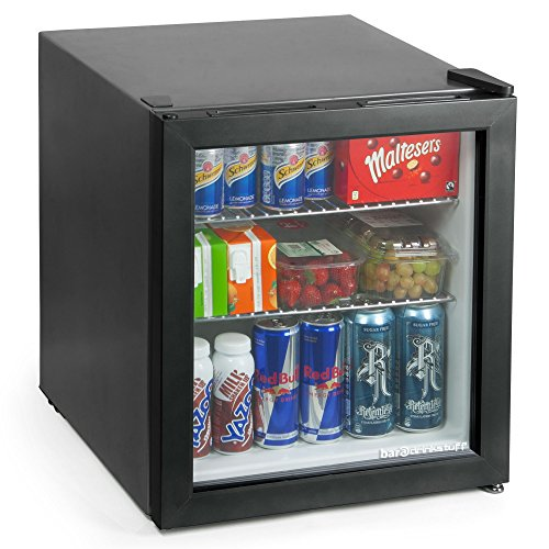 51ZjMDf404L. SS500  - bar@drinkstuff Frostbite Mini Fridge Black - 49ltr Compact Refrigerator Holds 45 x 330ml Cans | A+ Energy Rating