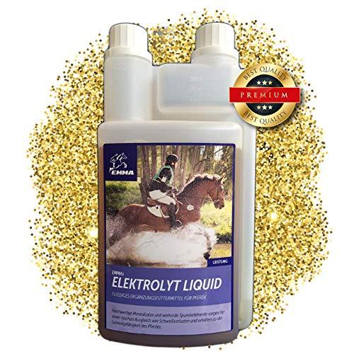 EMMA Elektrolyte fürs Pferd flüssig I Pferdefutter I Ausgleich Mineralstoffverlusten nach Durchfall I Liquid I Elektrolytmangel beim Sportpferd I 1L