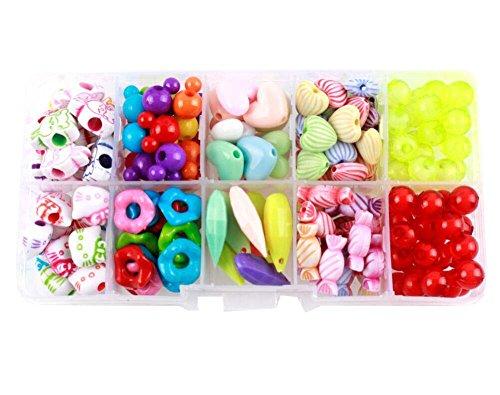 Alien Storehouse DIY Perlen Set Halskette Armband Schmuck machen Handwerk Kits für Kinder - ca. 170 Perlen - 22