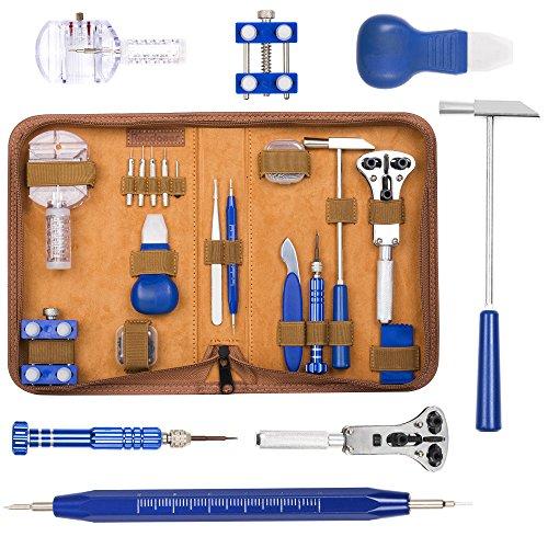 Readaeer Uhrenwerkzeug Set 155 pcs Uhrenwerkzeug Tasche Uhrenreparatur Set Watch Repair Tools [MEHRWEG]