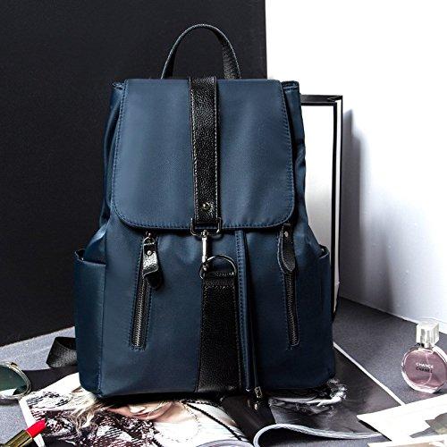 una nuova borsa di cuoio signore lo zaino,black blu reale