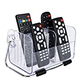 Orpio Acrylic Stylish Home Desk Remote stand/ Remote holder/ Remote organizer for TV and AC remotes / Cosmetic Makeup Organizer Box / Mobile And Phone Storage Remote Stand