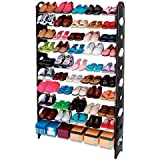 YOYO S-106 10 Tier Adjustable Shoe Storage Shoe Rack Organiser Shelf Hold Stand for 50 Pairs , Space Saving , Easy Assemble