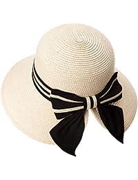Sonnenhut Damen Schutzhut Herren Sommerhut Faltbarer Strohhut mit Kinnband UPF 50 Augen und Kopf Sch/ützen Gesichtsschutz