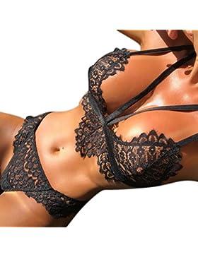 Subfamily Lingerie sexy, L'imbracatura di pizzo divise la biancheria erotica Fiori in pizzo a corsetto