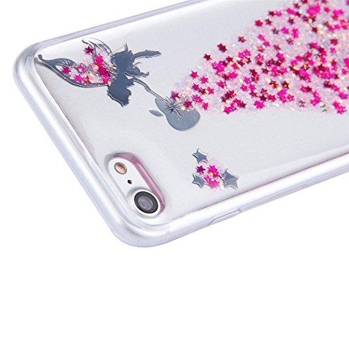 iPhone 7Coque, i7Coque, iPhone 7doux TPU Coque, iPhone 7clair TPU Coque, CE iPhone 7g Cristal Clair Bling Sparkle Fée Ange Fille étoiles Ultra fin Cadre Flexible en silicone souple en TPU Bumper  H Fairy 3