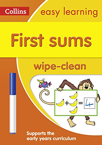 Collins Easy Learning Preschool – First Sums Age 3-5 Wipe Clean Activity Book