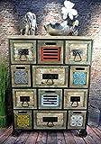 Livitat® Sideboard Kommode Metall 100 x 76 cm Vintage Industrie Look LOFT Retro Shabby LV5040