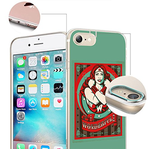 finoo | iPhone 8 Plus Weiche flexible Silikon-Handy-Hülle | Transparente TPU Cover Schale mit Motiv | Tasche Case Etui mit Ultra Slim Rundum-schutz |Portrait Color smile Fathers Day