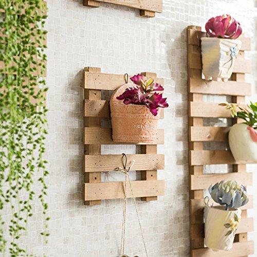 e10f0542a7d9 Fu Man Li Trading Company Porte-fleurs Ensemble de mur en bois massif Salon  Ensemble