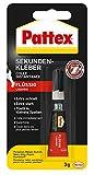 Pattex Sekundenkleber Flüssig/Lösungsmittelfreier Flüssigkleber/Extra schnell trocknend und transparent / 1 x 3g