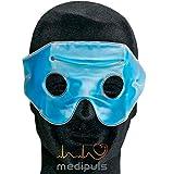 migrañas Gafas con velcro banda en estuche–migrañas con compresa de frío/–wärmespeicherndem Gel para aliviar los dolores de cabeza y resfriados–También para terapia de calor y cosméticos Ideal