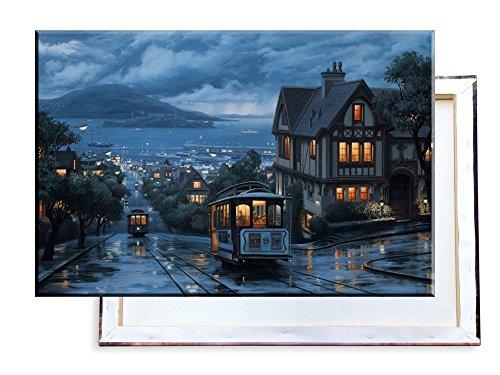 Unified Distribution Straßenbahn San Francisco California USA - 100x70 cm - Bilder & Kunstdrucke fertig auf Leinwand aufgespannt und in erstklassiger Druckqualität