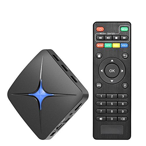 Docooler T96N Android 7.1 Smart TV Box RK3328 Quad Core UHD 4K H.265 USB3.0 2GB + 16GB Mini PC WiFi LAN HD Media Player EU Stecker
