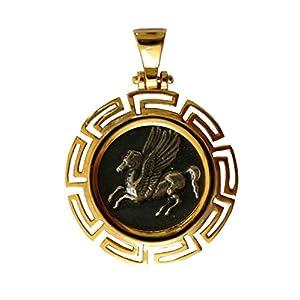 Anhänger, Nachbildung der griechischen Bordüre Pferde Pegasus Griechenland, groß