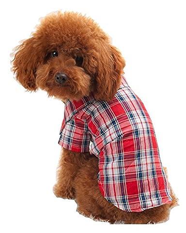 s-lifeeling Lovely Pet Kleidung Rot Blau T-Shirt Pet Supplies Spring Summer Innen Reise Hund (Disney Tinkerbell Licht)