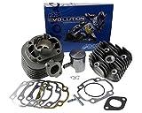 Zylinderkit POLINI Aluminium Racing Evolution 50ccm 10mm Kolbenbolzen für GT Union Manhattan 50 2T