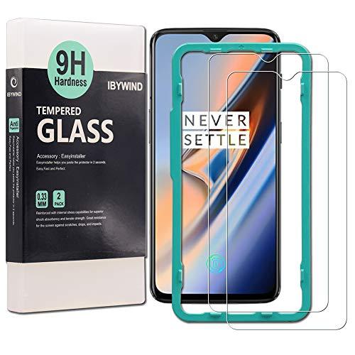 Ibywind Panzerglasfolie für OnePlus 6T (2 Stück) -9H Panzerglas Folie, HD Bildschirmschutzfolie, Tempered Glas Schutzglas, Handy Hartglas Schutzfolie mit Applikator für die Installation