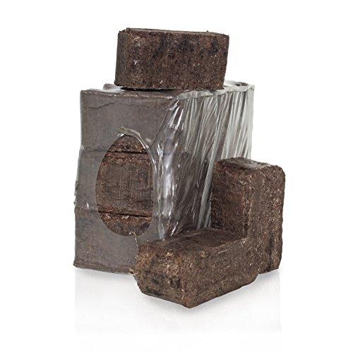 PALIGO RUF Rindenbriketts Gluthalter Dauerbrenner Kamin Ofen Brenn Holz Heiz Brikett 8kg x 3 Gebinde 24kg / 1 Karton HEIZFUXX®