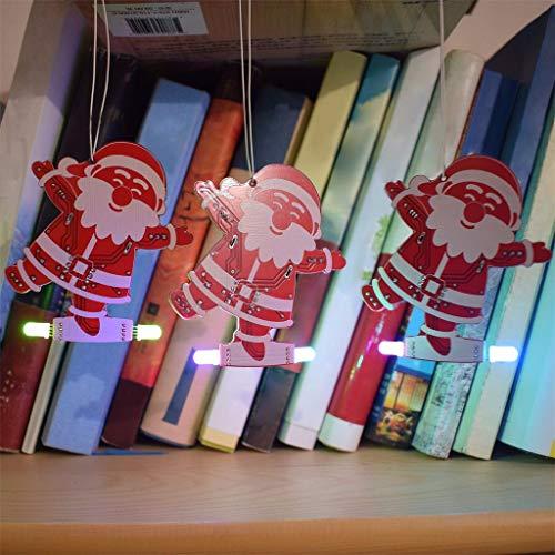 jieGREAT❄Weihnachten Deko ❄DIY Weihnachtsmann Weihnachtsbaum Dekoration Anhänger Musik Kit LED Elektronische Kits