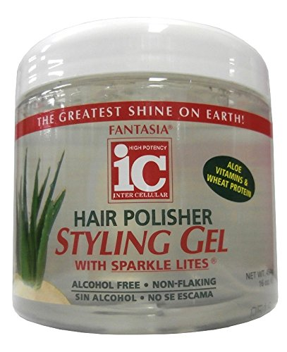 IC Fantasia Hair Polisher Aloe Styling Gel with Sparkle Lites 454g (Shine Sculpting Gel)