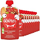 Good Goûter Fraises Cranberries Bio Noisettes, 10 Gourdes de 120 g