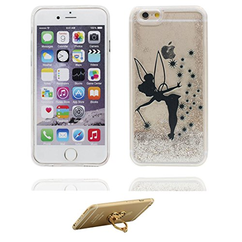 "iPhone 6 Coque, iPhone 6s étui Cover 4.7"", [ Bling Glitter Fluide Liquide Sparkles Sables] fée iPhone 6 Case Shell (4.7""), anti- chocs & ring Support # 3"