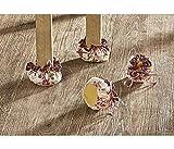 GKA 4 Stück niedliche Fußbodenschoner Rosen Stuhlkappen Stuhlsocken Rose Stuhlsocke Schutz für Parkett Stuhlkappen Stuhl Stühle Möbelgleiter