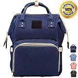 Lmeison Wickeltasche/Rucksack, modisch, praktisch, multifunktionell, wasserdicht, für Babypflege, großes Fassungsvermögen, stilvoll, langlebig dunkelblau