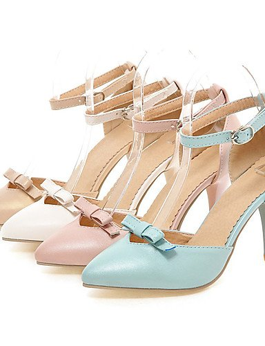 WSS 2016 Chaussures Femme-Bureau & Travail / Habillé / Soirée & Evénement-Bleu / Rose / Blanc / Beige-Talon Aiguille-Talons / D'Orsay & Deux white-us3.5 / eu33 / uk1.5 / cn32