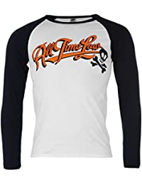 All Time Low Official Band Raglan T-Shirt Mens White/Black Music Top Tee T Shirt XLarge