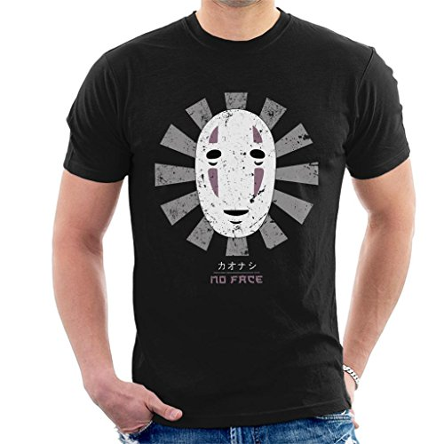 Cloud City 7 Spirited Away No Face Retro Japanese Men's T-Shirt (T-shirt Mens Boh)