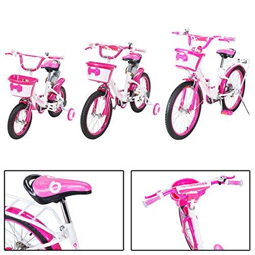 Actionbikes Kinderfahrrad Daisy ab 3-9 Jahren 12 16 20 Zoll Pink Kinder Mädchen Jungen Fahrrad … (20` Zoll)