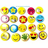 Sri Sai Sabarish Big Size Smiley Badge Colourful Expressions Pin Brooch 3 Cm (Piece Of 20) - Birthday, Office, Return Gifts And Theme Party.