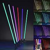 PROHEIM Leuchtstab RGB LED mit IR-Fernbedienung und Halterung Ø3cm Leuchte mit Dimmfunktion und Farbwechsel-Programmen Lichtstab, Länge:100 cm