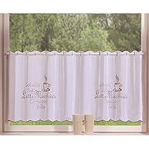 Gentil Transparente Scheibengardine Aus Voile , 40x120, Capuccino, Luftiger Voile  Mit Gesticktem Muster, 42002