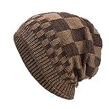 AIEOE Bonnet Homme Femme Hiver Chaud Douce Bonnet Elastique Doublure Polaire Tricot...