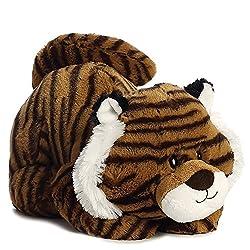 Aurora World Growler Tiger Tushies Plush Toy (Brownwhiteblack)