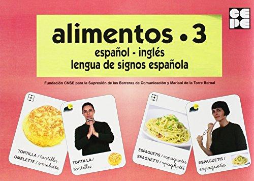 Alimentos 3. Baraja Español-Inglés. Lengua De Signos Española (Vocabulario Fotografico Element)