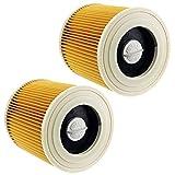 Spares2go - 2 cartuchos de filtro premium para la aspiradora Karcher WD2, WD3 y...