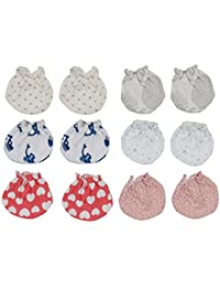 Dreambaby Baby's Cotton Mittens Set (Multicolour, 0-3 Months, Dream Baby combo 94)
