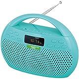 Radio/MP3 FM Stereo Trevi KB 308 avec Bluetooth et fonction mains libres – Micro Carte SD/USB/AUX (vert Aqua)
