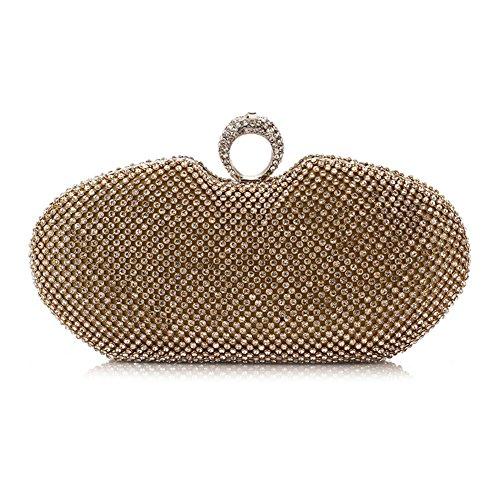 Myleas Pochette Sac de Soirée Mariage Envelopes Epaule chaine Fête - Sac à main Argent