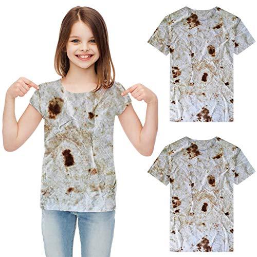 Kleinkind Baby Mädchen Jungen Kurzarm Print Burrito Tops T-Shirt Bluse Kleidung