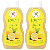 #9: MIE Lemon Juice Concentrate, 200 ML [Pack Of 2, Made With 20 Lemons]