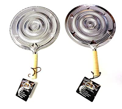 2 Pack Flame Tamer Stovetop Simmer Ring Aluminum Heat Diffuser Gas Electric Range by Dependable Industries inc