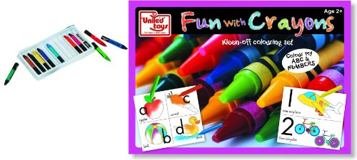 United Toys United Toys Fun with Crayon'S Colour My Abc and Numbers, Multi Color
