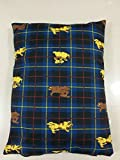 Dog Bed Pet Supplies Large Extra XL Size Zip Cover With Inner Cushion Free P&P (Large (29'x39'inches), Black Bones)