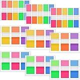 660 Pièces Onglets d'Index Drapeaux Marqueurs de Page au Néon Fluorescent Note Collante pour Le Marqueur de Page, Drapeaux de 0,5 Pouce et 0,8 Pouce de Largeur, 9 Jeux